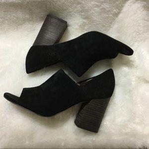 Franco Sarto suede block heel sandal